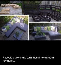 Recycle pallets - outdoor furniture