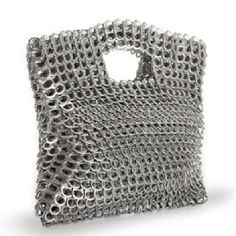 Find Silver Clutch, Leda, Award-Winning Eco Fashion Brazil Made Upcycled Aluminum online. Shop the latest collection of Silver Clutch, Leda, Award-Winning Eco Fashion Brazil Made Upcycled Aluminum from the popular stores - all in one Pop Tab Purse, Clutch Purse, Soda Tab Crafts, Pop Can Tabs, Commerce Équitable, Diy Sac, Silver Clutch, Minimalist Bag, Green Handbag