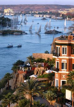 Nile River in Aswan, Egypt