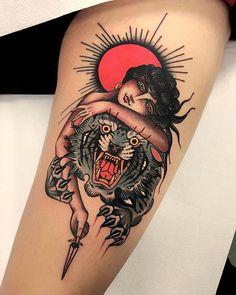 Neo Traditional Tattoo: Discover the 50 most amazing ideas of this cool . - Neo Traditional Tattoo: Discover the 50 most amazing ideas of this cool style – Neo Traditional T - Piercing Tattoo, Sanduhr Tattoo Old School, Old School Ink, Trendy Tattoos, Tattoos For Women, Modern Tattoos, Feminine Tattoos, Body Art Tattoos, Sleeve Tattoos
