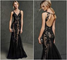 Cheap robe de soiree longue, Buy Quality robe de soiree directly from China robe de Suppliers: Custom made top quality appliques lace sexy open back robe de soiree longue for party long black evening dresses gowns Gala Dresses, Event Dresses, Prom Party Dresses, Bridesmaid Dresses, Formal Dresses, Dresses 2016, Pretty Dresses, Sexy Dresses, Long Black Evening Dress