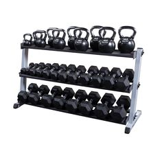 Body Solid Dumbbell and Kettlebell Rack Kettlebell Rack, Dumbbell Rack, Kettlebell Training, Basement Gym, Garage Gym, Basement Ideas, Home Gym Equipment, No Equipment Workout, Fitness Equipment