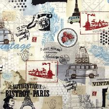 Benartex Fabric - Vintage Scrapbook - Multi