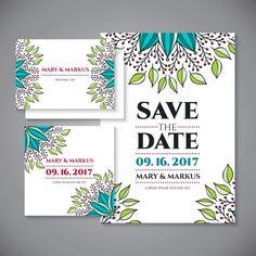 convite de casamento Mandala Vetor grátis