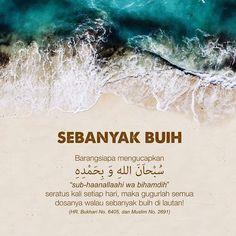 "Com: Ucapkan ""Subhanallahi wa bihamdih"" atau lebih dalam sehari Quran Quotes Love, Hadith Quotes, Quran Quotes Inspirational, Islamic Love Quotes, Muslim Quotes, Hijrah Islam, Doa Islam, Wattpad Quotes, Religion Quotes"