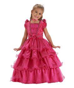 Look at this Fuchsia Fairy Tale Princess Dress - Girls by Just Pretend Kids Dress Up Wardrobe, Dress Up Outfits, Dress Up Costumes, Doll Costume, Girl Outfits, Kid Costumes, Costume Ideas, Princess Dress Kids, Pink Princess