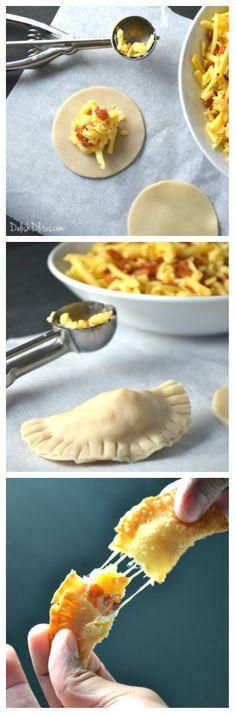 Bacon and Cheese Empanadas | Delish D'Lites #ad #FarmlandGameTimeRecipes