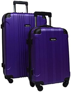 Kenneth Cole R Out of Bounds Luggage Spinner Suitcase 28 and 20 inch 2 pc set Purple * You can find more details by visiting the image link.