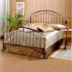Tierra Mar Metal Panel Bed in Desert Tan Finish - 370BXR