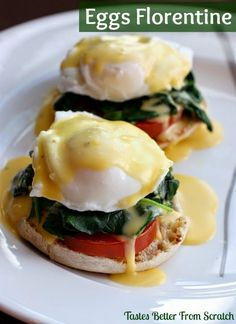 Easy Homemade #Eggs Florentine | Tastes Better From Scratch #recipes #uova #ricetta