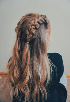 42 Amazing Braided Hairstyles for Long Hair for Every Occasion : Page 11 of 42 :. 42 Amazing Braided Hairstyles for Long Hair for Every Occasion : Page 11 of 42 : Creative Vision Design Box Braids Hairstyles, Down Hairstyles, Pretty Hairstyles, Hairstyle Ideas, School Hairstyles, Casual Hairstyles, Quick Hairstyles, Everyday Hairstyles, Wedding Hairstyles