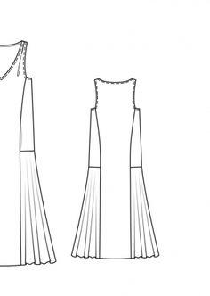 Платье с заниженной талией без рукавов: Burda 4/ 2015/ 105 A / Burdastyle
