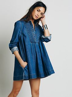 Free People Maheya Indigo Print Tunic at Free People Clothing Boutique