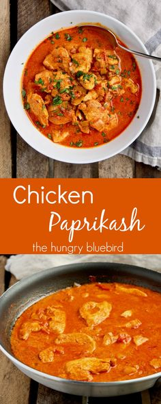 Hungarian paprika chicken in rich sour cream gravy (make vegan sour cream? Sour Cream, Hungarian Paprika Chicken, Atkins, Paprika Recipes, Hungarian Recipes, Croatian Recipes, Hungarian Food, Cooking Recipes, Healthy Recipes