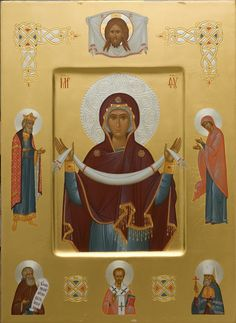 The icon painters of St Elisabeth Convent will paint a family icon of any kind. You can order an Orthodox family icon online from the Catalog of St Elisabeth Convent Byzantine Icons, Byzantine Art, Religious Images, Religious Art, Sign Of The Cross, Russian Icons, Orthodox Icons, Patron Saints, Spirituality