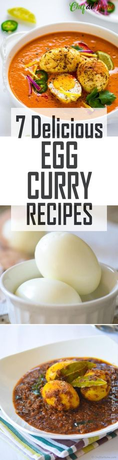 7 Delicious Egg Curry Recipes #egg #curry
