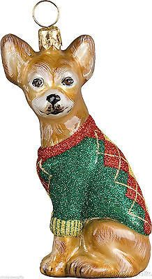 Joy To The World CHIHUAHUA Christmas ornament dog NEW