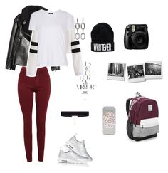 """""""Turista day"""" by evelinvalenciagomez on Polyvore featuring moda, NIKE, Victoria's Secret, AG Adriano Goldschmied, Fujifilm, Rika, 8 Other Reasons, Alexander Wang y Topshop"""