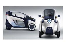 """! Tema de design futurista Três rodas EV ultra-Compacto Toyota """"i-ROAD""""   Colega de Quarto (Rumi)"""