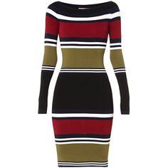 Nikkie Jolie jurk met lange mouwen ❤ liked on Polyvore featuring accessories