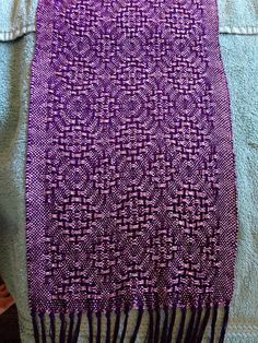 Ravelry: cwestrich's Purple Huck Lace Scarf 2