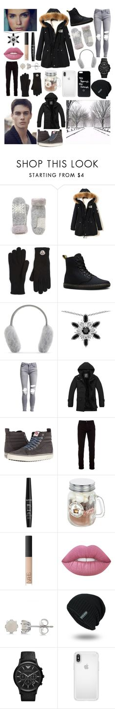 """Oh Ms Believer"" by nplainfashion ❤ liked on Polyvore featuring Moncler, Dr. Martens, Karl Donoghue, AMIRI, Vans, Marcelo Burlon, NYX, NARS Cosmetics, Allurez and Speck"