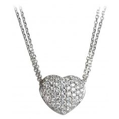 Portero Luxury offers the finest selection of pre-owned and gently used vintage and contemporary handbags, watches, jewelry and accessories. Beautiful Hearts, Diamond Heart, Be My Valentine, Girls Best Friend, Girl Stuff, Diamond Jewelry, Necklaces, Pendant, Pretty