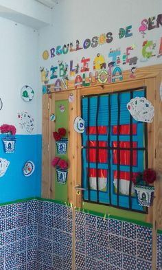 Día de Andalucía. Decoración puertas