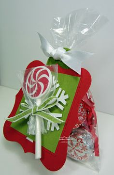 Peppermint Lollipop Candy Bags