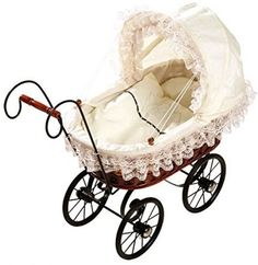 Pram Canopy and Quilt Set  to fit Silver Cross pram in Cream Teddy lace