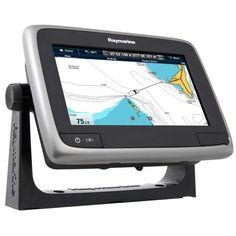 "Raymarine a75 Wi-Fi 7"" MFD Touchscreen - Lighthouse Navigation Charts - NOAA Vector"