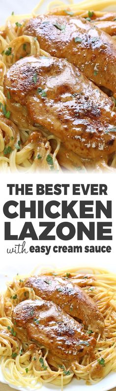 Chicken Lazone - Super easy juicy chicken with spices in a the best ever butter and cream sauce simply calls for more. Healthy Cooking, Cooking Recipes, Easy Cooking, Chicken Lazone, Pasta With Meat Sauce, Detox, Chicken Pasta, Pasta Dishes, Chicken Recipes