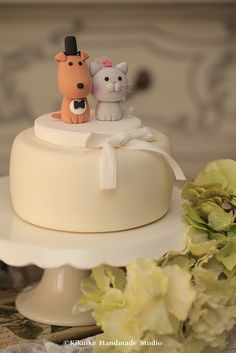 Lovely cat and dog Wedding Cake Topper | Flickr - Photo Sharing!