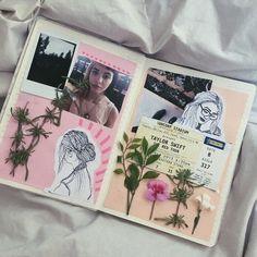 Imagen de aesthetic, flowers, and journal