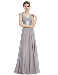 awesome Ever Pretty Chiffon Sexy V-neck Ruched Empire Line Evening Dress 09672