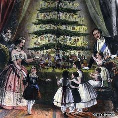 Prince Albert's practice of putting up Christmas trees at Windsor became well known in the 1840s