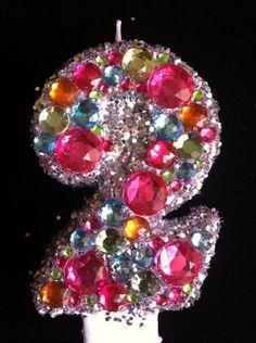 Glitter Fabulous 30th Birthday Candle Custom by LittleMissMraz