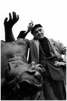Photographer Robert Doisneau (Paris 1983.) Photo by Toni Thorimbert