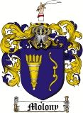 Molony    family crest / coat of arms from www.4crests.com  #coatofarms #familycrest #familycrests #coatsofarms #heraldry #family #genealogy #familyreunion #names #history #medieval #codeofarms #familyshield #shield #crest #clan #badge #tattoo