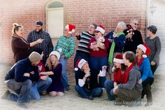 Fun, Christmas multiple family portrait by TraceElements Photography