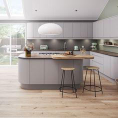 Magnet Luna matt light grey kitchen | Luna Cashmere Kitchen Style | Kitchens | Magnet Trade