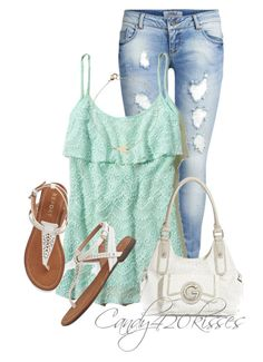 """""""Untitled #223"""" by candy420kisses ❤ liked on Polyvore featuring ONLY, Hollister Co., Estella Bartlett and G by Guess"""