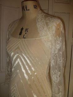 eBay | Ivory LACE 3/4 Sleeve Bolero Shrug Wedding LARGER SIZES 18, 20, 22