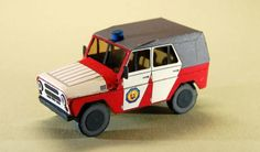 Slovakia Fire Department UAZ-469 SUV Free Vehicle Paper Model Download - http://www.papercraftsquare.com/slovakia-fire-department-uaz-469-suv-free-vehicle-paper-model-download.html#150, #SUV, #UAZ, #UAZ469, #VehiclePaperModel
