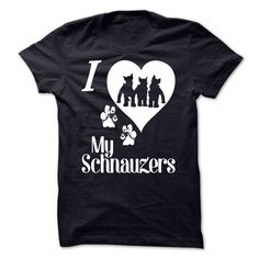 LOVE YOUR SCHNAUZERS?.  Schnauzer people often have more than one of this wonderful breed. Smart, funny, adorable best friends - they have it all. Tell the world with this hoodie or tee.
