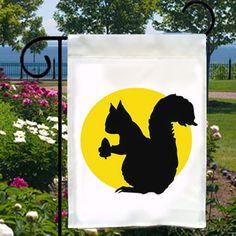Small Garden Flags Squirrel