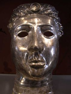 Silver Mask Excavated From Pompeii