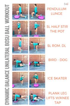 Burpees for Breakfast | SIX UNILATERAL BOSU BALL EXERCISES TO ENHANCE DYNAMIC BALANCE [WORKOUT] | http://www.burpeesforbreakfast.com