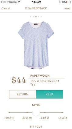 PaperMoon Tary Woven Back Knit Top. Looks like something I would love - curious to know what the back looks like