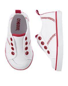 34705e75a72 Toddler Boys White Baseball Sneakers by Gymboree Grandchildren